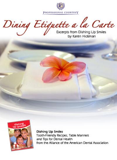 Dining Etiquette A la Carte | Professional Courtesy, LLC